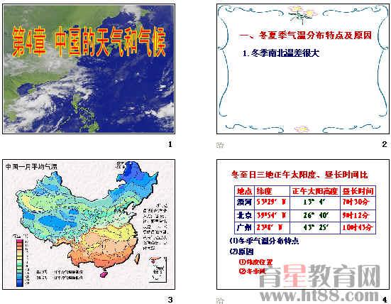 中国的天气和气候ppt1 人教版