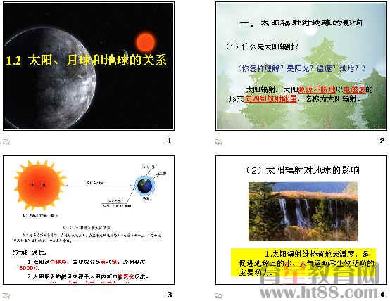 太阳,月球和地球的关系ppt 人