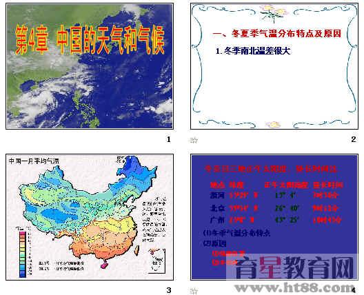 中国的天气和气候ppt 通用