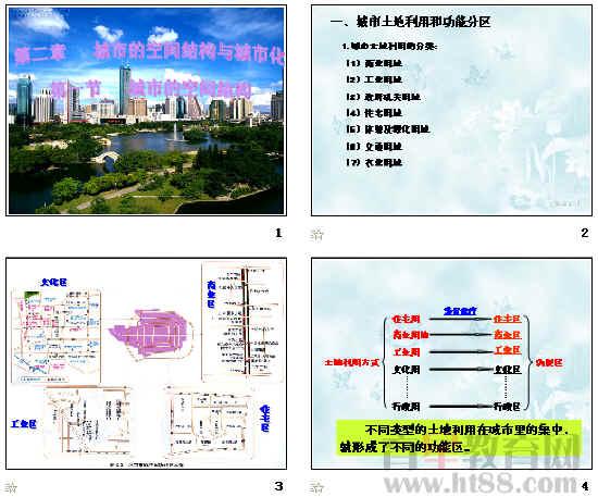 城市空间结构ppt20 人教版
