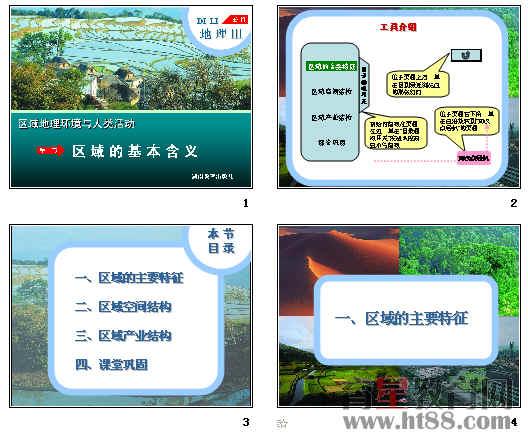 高中地理必修3同步课件ppt(14份)